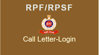 RPF Sub Inspector 2018 Admit Card released : Download Now