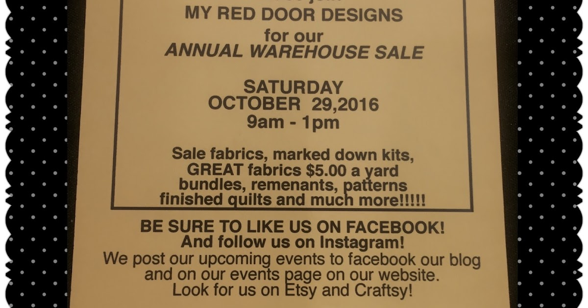 My Red Door Designs Our Warehouse Sale Is Back