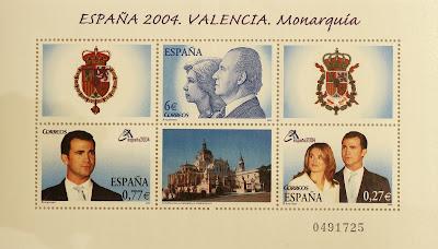 EXPOSICIÓN MUNDIAL DE FILATELIA, VALENCIA 2004, MONARQUÍA