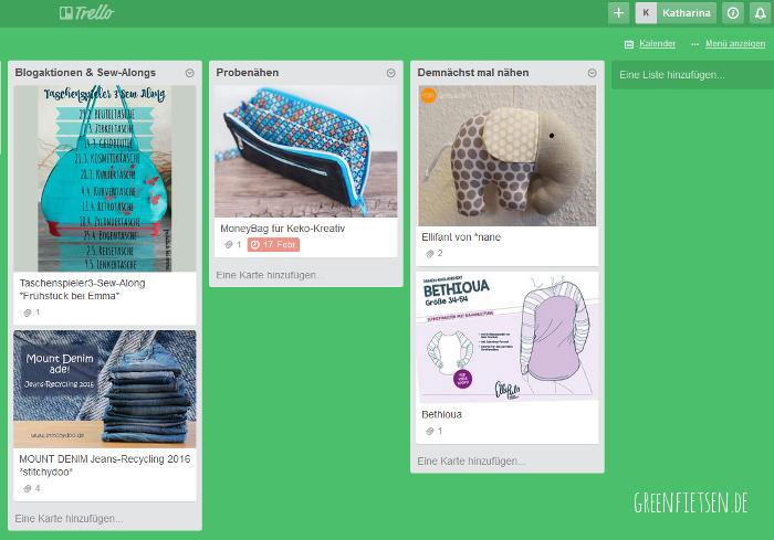 Simplify Nähen | Nähprojekte mit Trello planen und organisieren