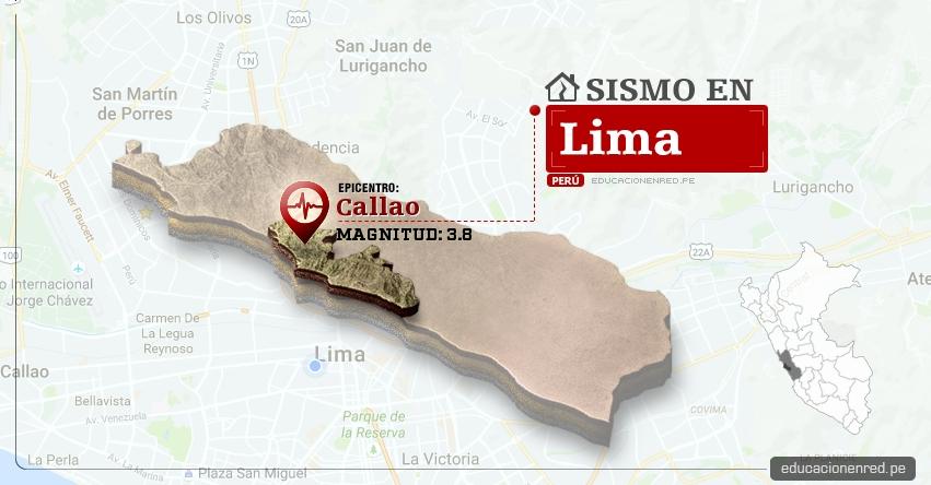Temblor en Lima de 3.8 Grados (Hoy Jueves 11 Mayo 2017) Sismo EPICENTRO Callao - IGP - www.igp.gob.pe
