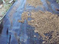 malla antihierba en el huerto