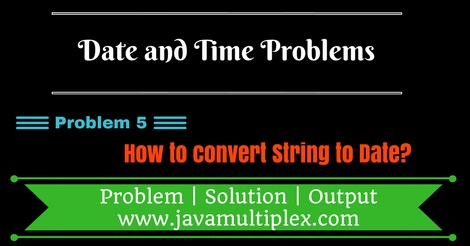 Java program that converts String to Date.