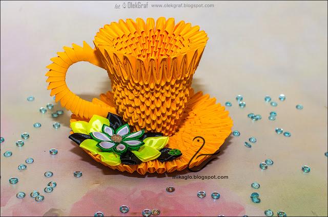 653. Filiżanka z origami / 3d origami tea cup