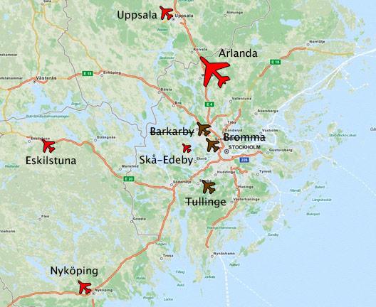 Karta Bromma Arlanda.Flygplatser Paris Karta Karta