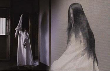Fantasma japones mujer de blanco