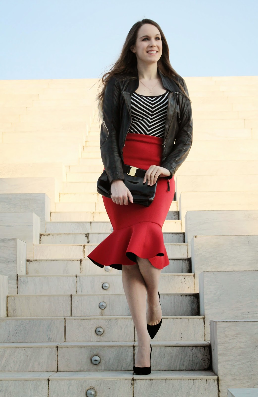 red trumpet skirt