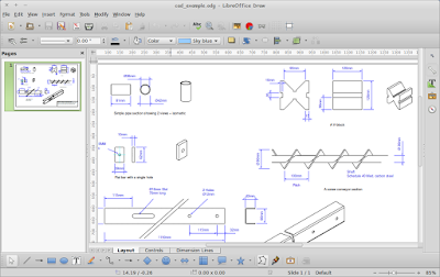 Menggambar CAD (Computer Aided Design) di LibreOffice Draw