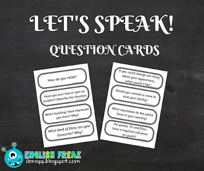 pytania mówienie speaking question cards