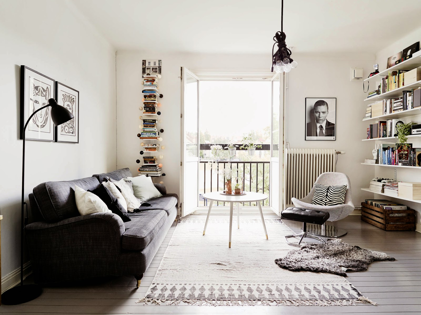 my scandinavian home a grey and white swedish home. Black Bedroom Furniture Sets. Home Design Ideas