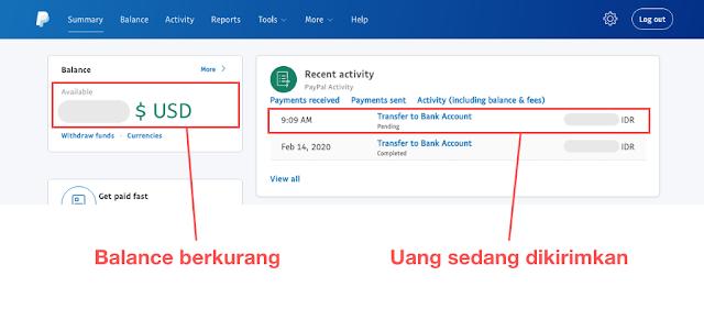 Cek Saldo Paypal dan Daftar Transaksi, Transfer Paypal ke Jenius, masbobz.com, transfer dari paypal ke jenius, transfer uang dari paypal ke jenius, cara transfer paypal ke jenius