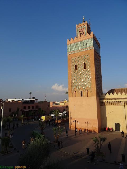 Vistas hacia el Mosqueé el Mansour en Marrakech