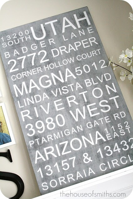 Large Address Subway Art for Gallery Photo Wall