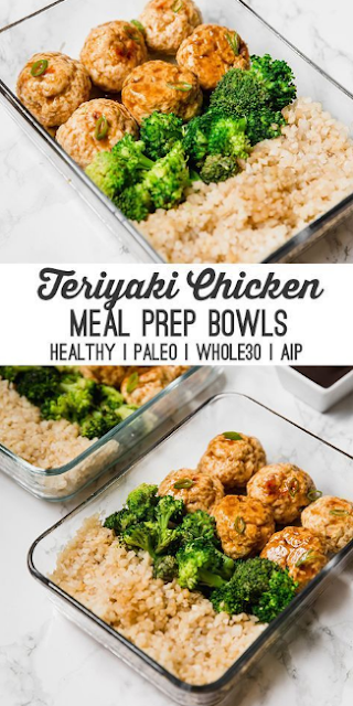 Teriyaki Chicken Meatball Meal Prep (Paleo, Whole30, AIP)