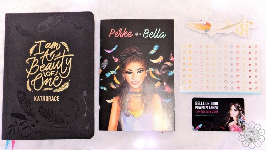 A Close-up Look inside a Filipino Lady`s Planner: 2018 Belle De Jour Power Planner | First Impressions and Reviews | 2018 BDJ Planner,  Magnetic Bookmark, Perks of a Bella Coupon Booklet and 2018 BDJ Lifestyle Card | by +The Graceful Mist (www.TheGracefulMist.com)
