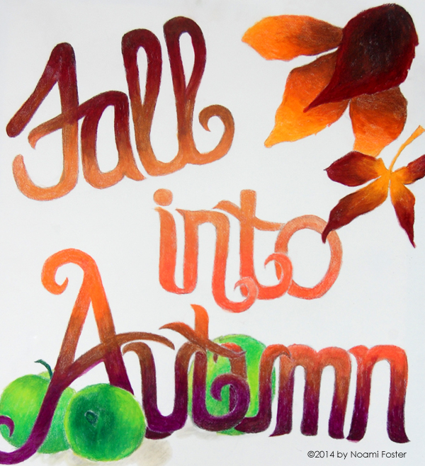 Fall Into Autumn Full Size Poster by Noami Foster