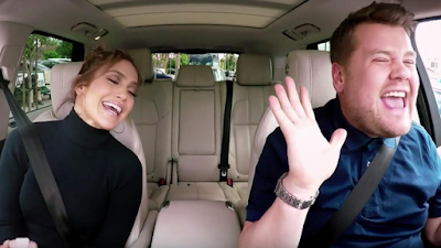 Jennifer Lopez with James Corden