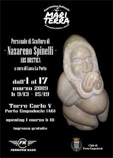 Ars Rustica, personale di scultura di Nazareno Spinelli alla Torre Carlo V di Porto Empedocle