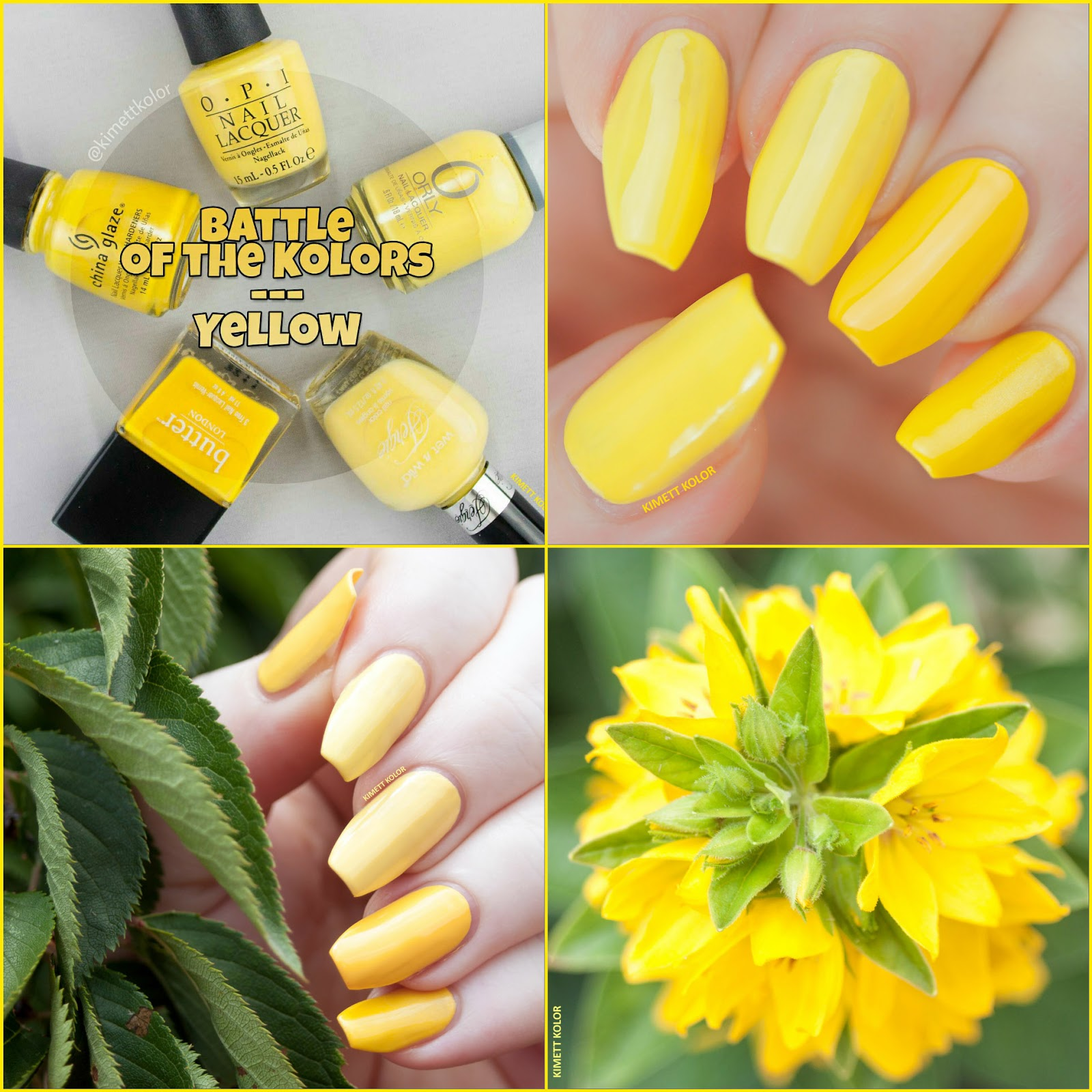 yellow polish dupes collage