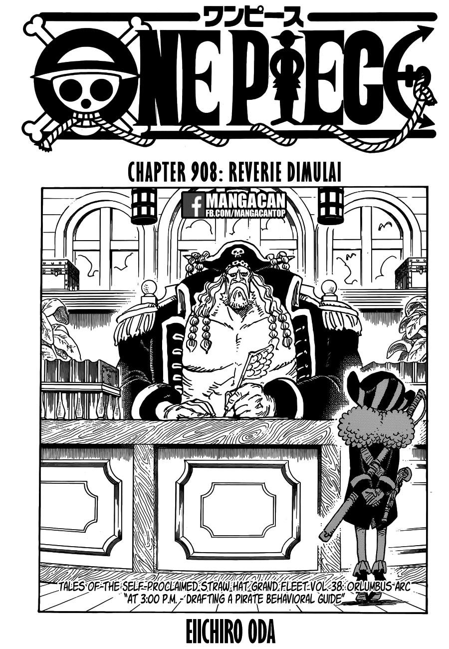 Komik Manga One Piece Chapter 908 Bahasa Indonesia