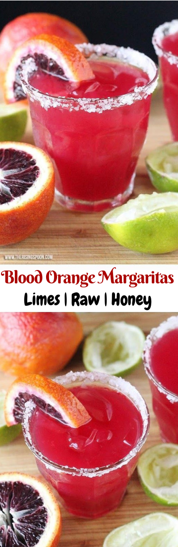 Blood Orange Margaritas #summerdrinks #cocktailrecipe