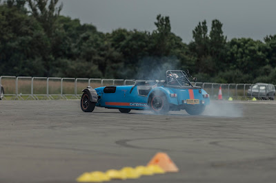 Lighting up the rears in my Caterham R500 at the Supercar Event, Dunsfold - Picture taken by George F Williams