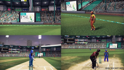 Game play pictures of PSL T20