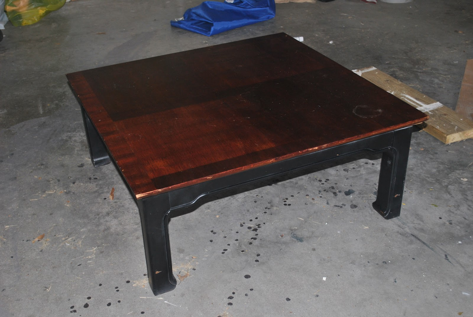 Amazing Grays: Industrial, Aged Coffee Table ReDo