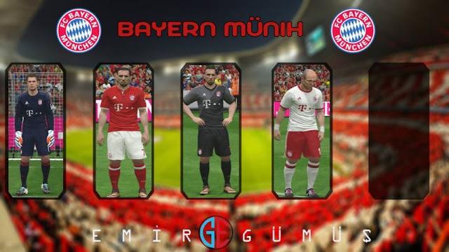 PES 2016 Bayern Munich Kit Season 2016-2017
