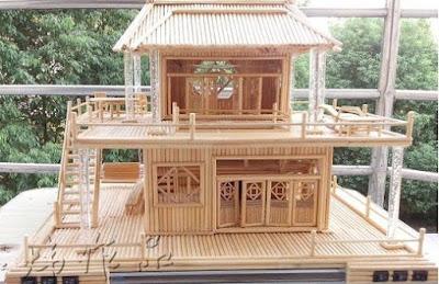 Cara Membuat Miniatur Rumah Dari Bambu Dengan Mudah Dan Gak Ribet