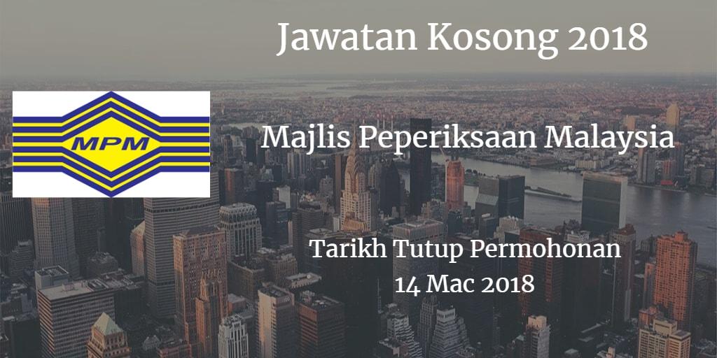 Jawatan Kosong MPM 14 Mac 2018
