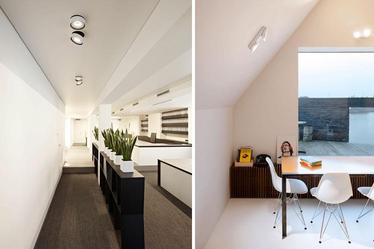 Marzua iluminaci n con focos de superficie - Lamparas para salones modernos ...