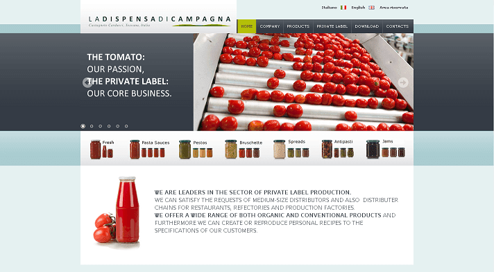 Picture to Italian food exporter company named La Dispensa di Campagna Srl Uninominale