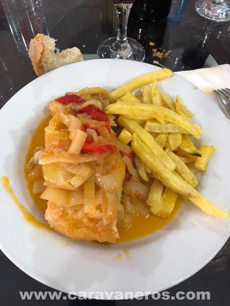 Bacalao. Restaurante o Moinho. Miranda o Douro | Ruta Semana Santa Autocaravana | caravaneros.com