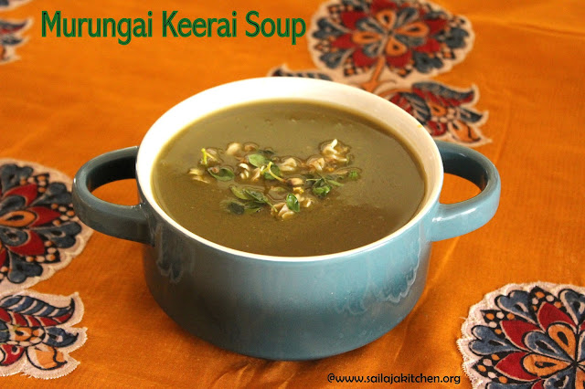 images of Murungai Keerai Soup / Drumstick Leaves Soup / Moringa Leaves Soup - Moringa Recipe