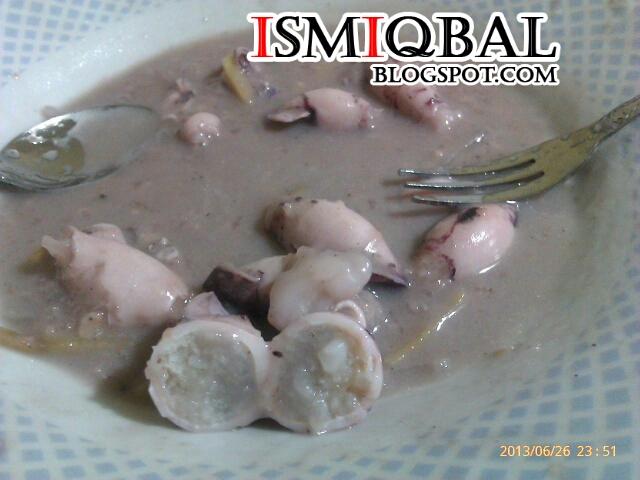 makanan tradisional, resipi, ketupat sotong,