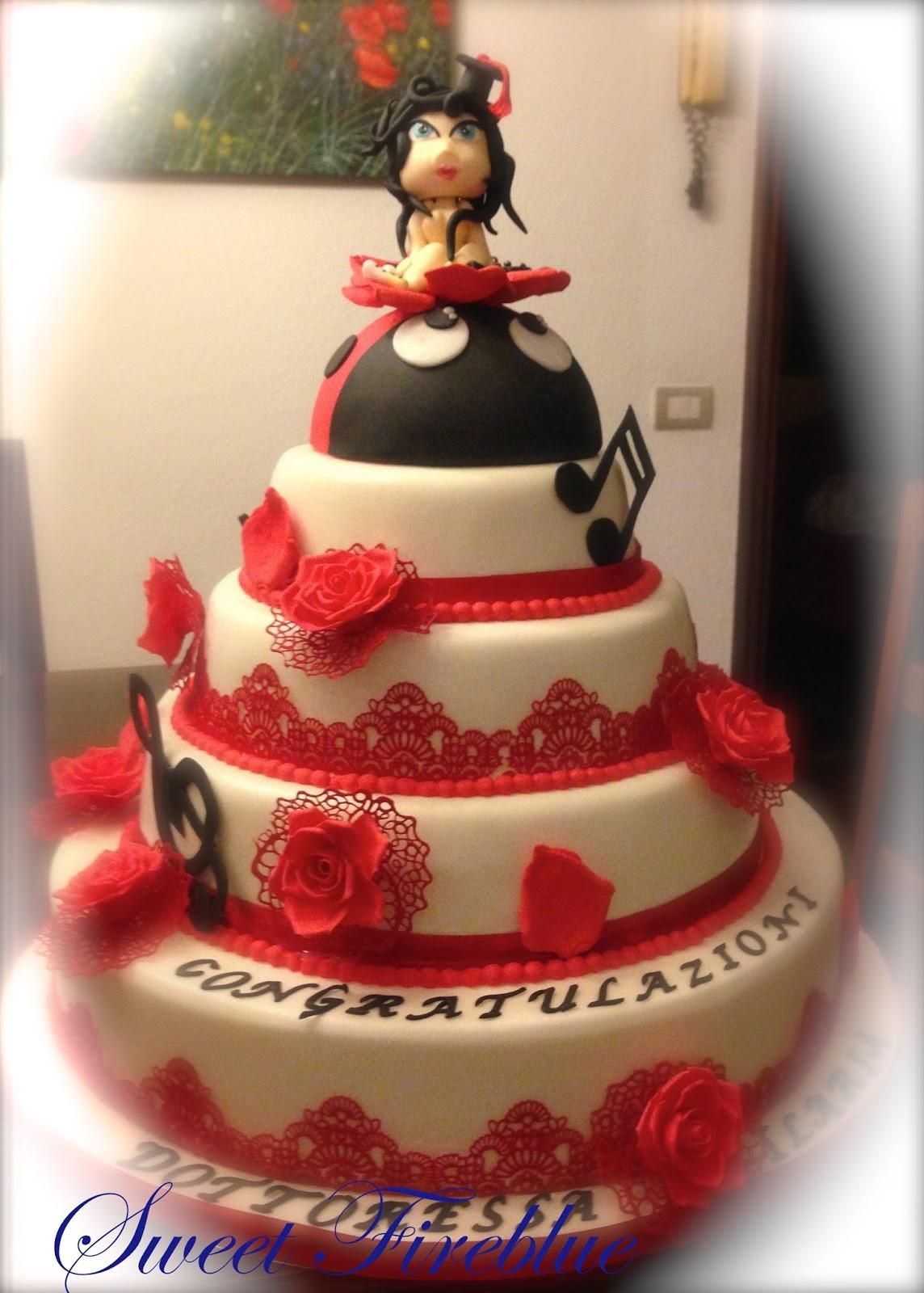 Ben noto Sweet Fireblue: ♥♥♥Una torta per la laurea di Ilaria♥♥♥ TS92