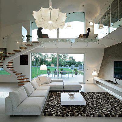 Construindo minha casa clean salas modernas de estar e jantar - Mijn home design ...