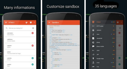 تعلم اكثر من 35 لغة برمجة مجانا من الموبايل