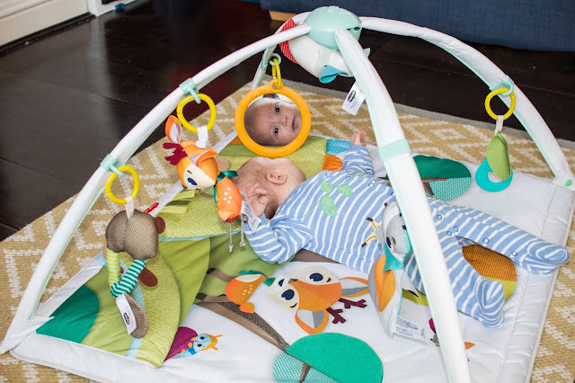 The baby safe mirror is good for tummy time or just staring at themselves