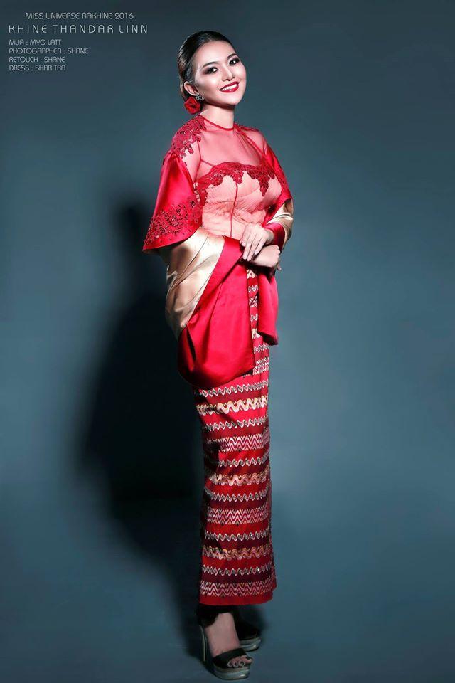Khine Thandar Linn MISS UNIVERSE RAKHINE 2016