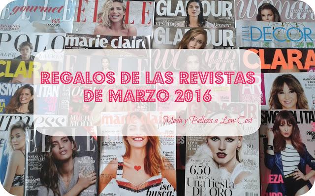 Regalos de las revistas de marzo 2016