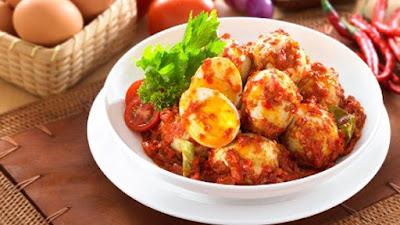 Resep Telur Balado Spesial Pedas Manis