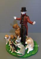 Statuetta personalizzata mago illusionista mentalista compleanno orme magiche