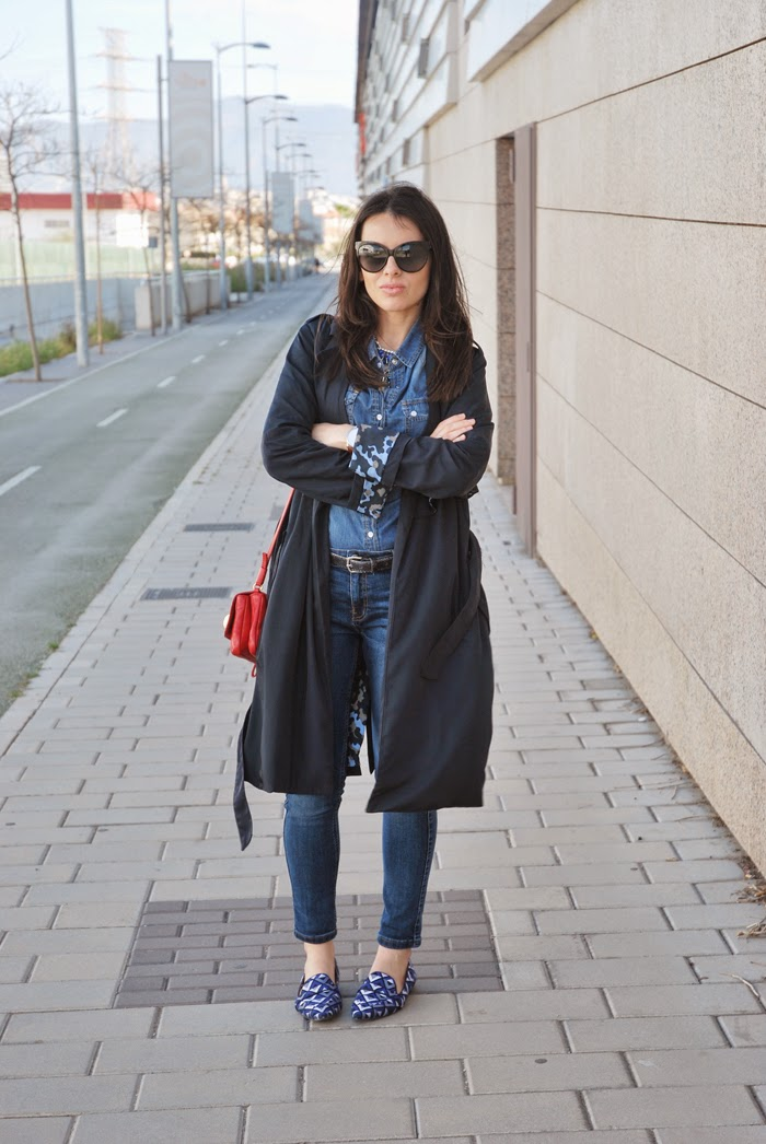 Trench and denim