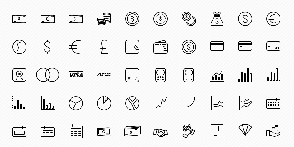 50 Free Business Icons Pack