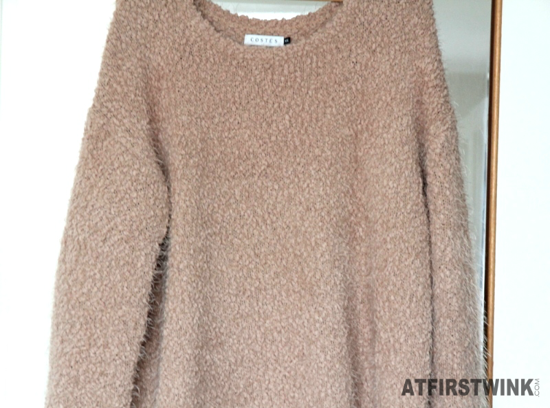 Costes pullover longsleeve wide fluffly pull camel rusty pink