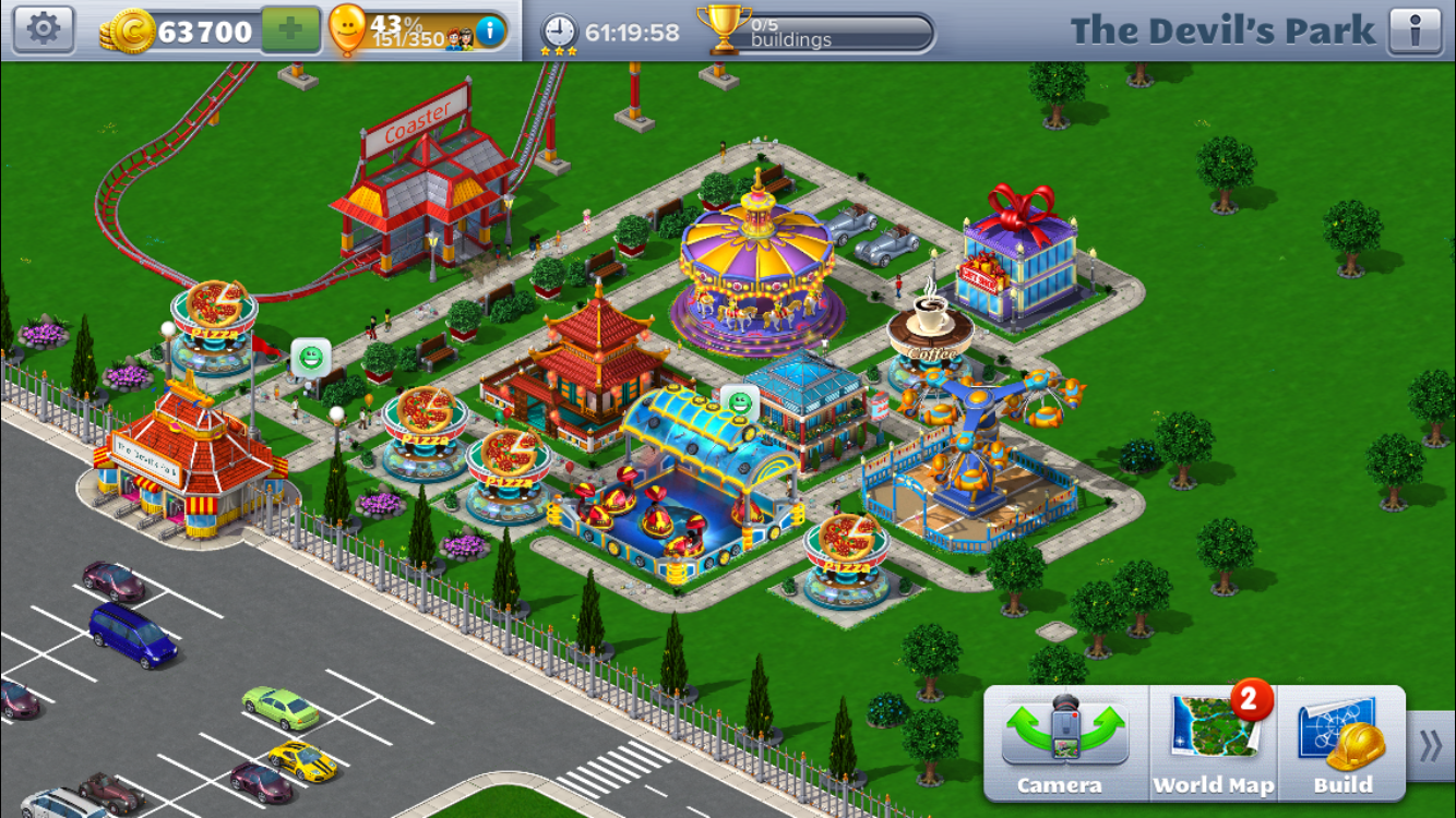 How to Beat Scenario 4 of RCT4M (Roller Coaster Tycoon 4 Mobile)