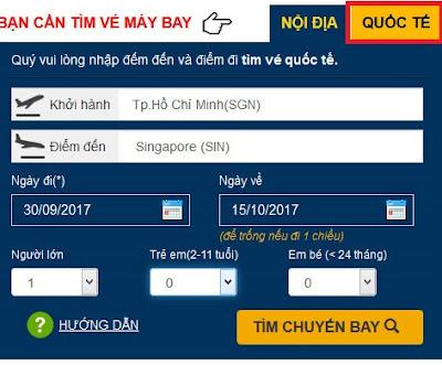 Đặt mua vé máy bay Quốc Tế Online