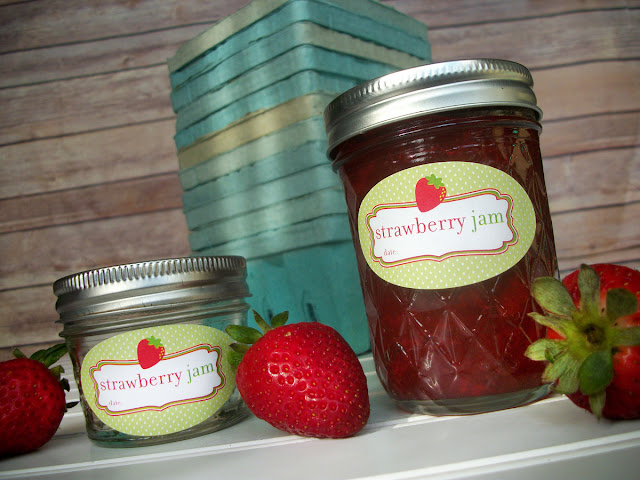 oval strawberry jam canning labels